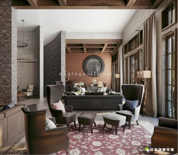 个性十足的吊顶在餐桌上尽显其魅力,墙面采用地板进行装饰,带有一丝的原始自然的感觉,而餐边柜的颜色不仅与客厅颜色相互协调,同时与墙面相互融合,所谓恰到处。
