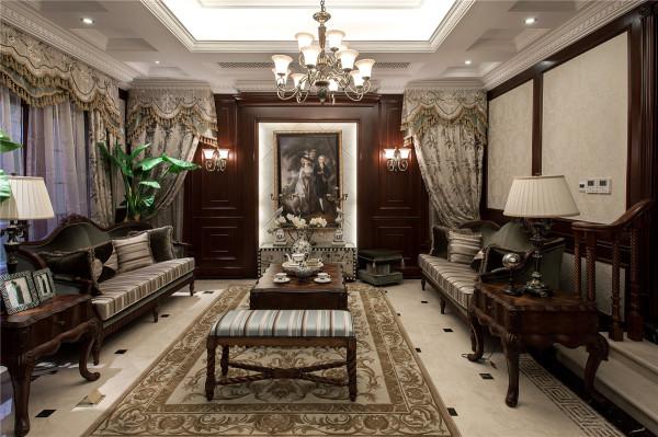 别墅装修美式风格完工案例实景展示——腾龙设计师周峻作品,欢迎品鉴!