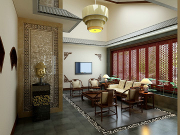 新中式别墅体现大气与奢华