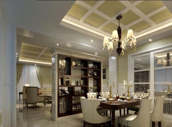 当餐厅有了自己独立的空间,用餐环境就变得不再枯燥了。