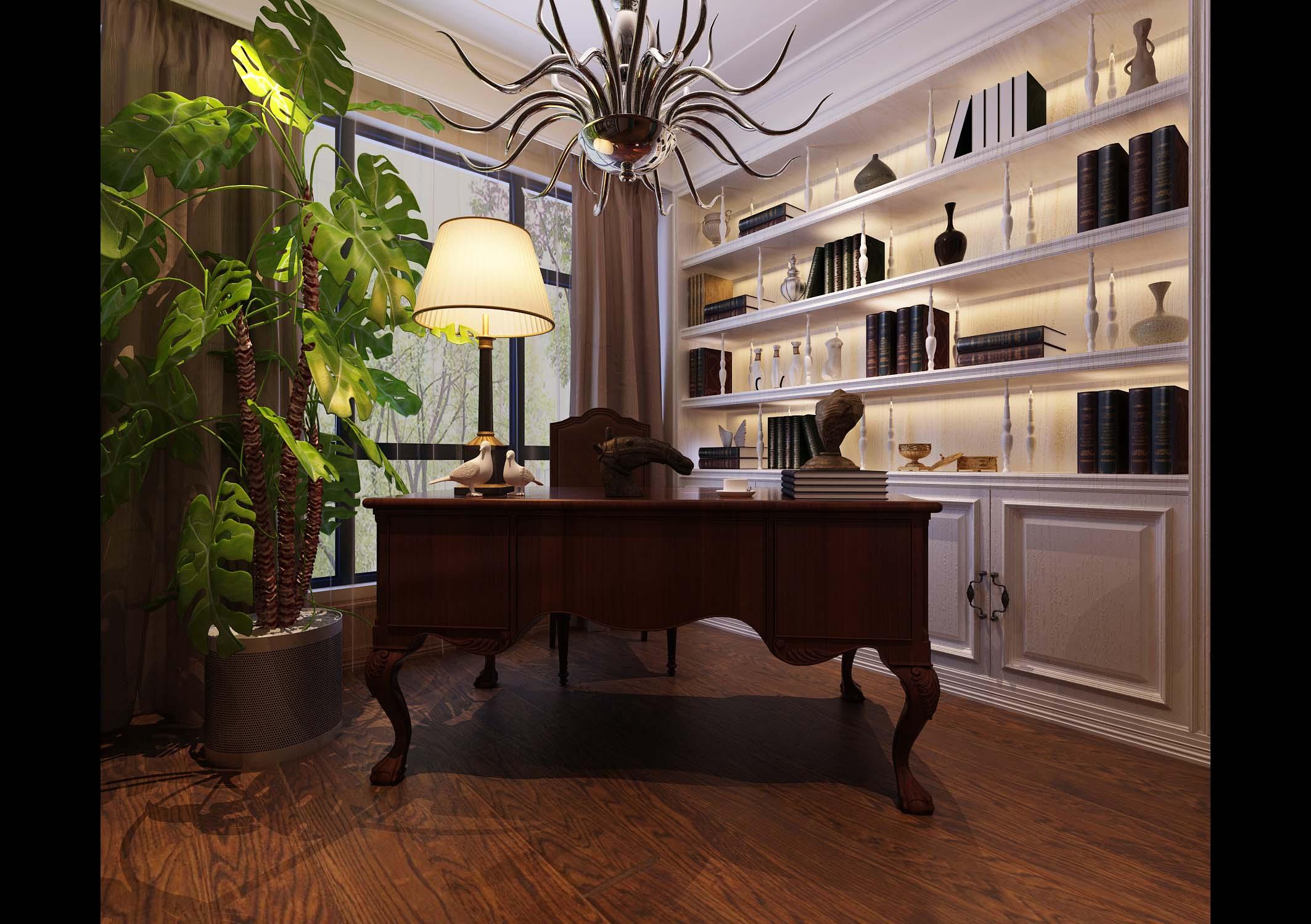 简约 欧式 田园 混搭 二居 三居 别墅 白领 旧房改造 书房图片来自用户1744126412在清水苑复式住宅的分享