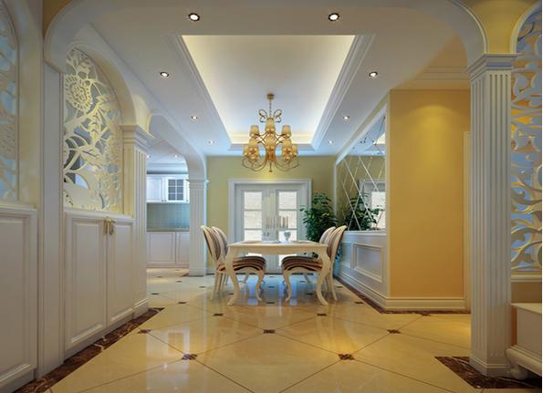 餐厅图片来自西安日升装饰在碧玺华庭112平米简欧风格的分享