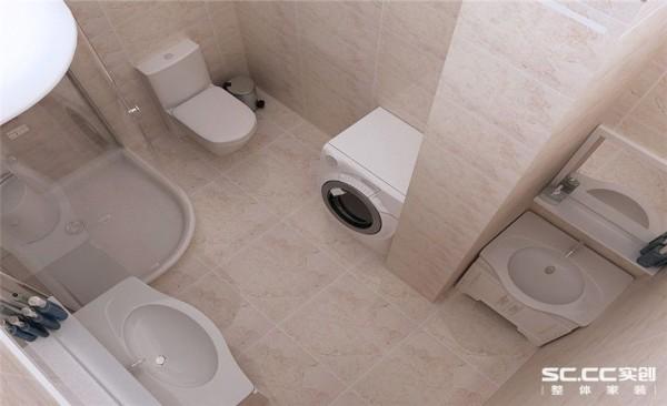 卫生间设计: 卢森地板、巴赫曼德式门、法恩莎洁具、卡乐威铝扣板