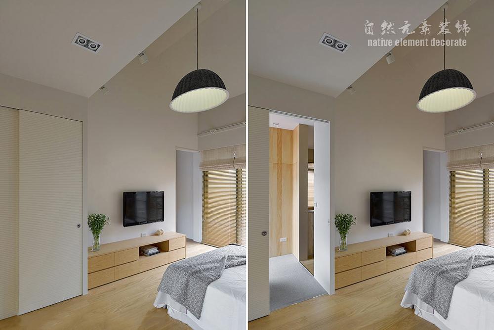 简约 小资 80后 白领 复式 现代 卧室图片来自自然元素装饰在星航华府——现代简约的复式房的分享