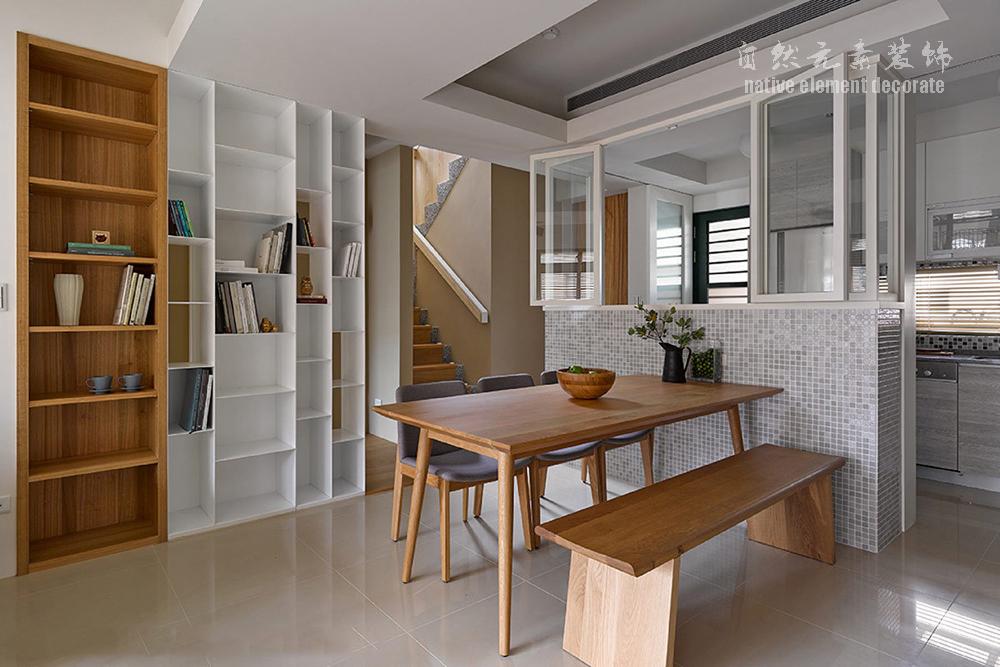 简约 小资 80后 白领 复式 现代 餐厅图片来自自然元素装饰在星航华府——现代简约的复式房的分享