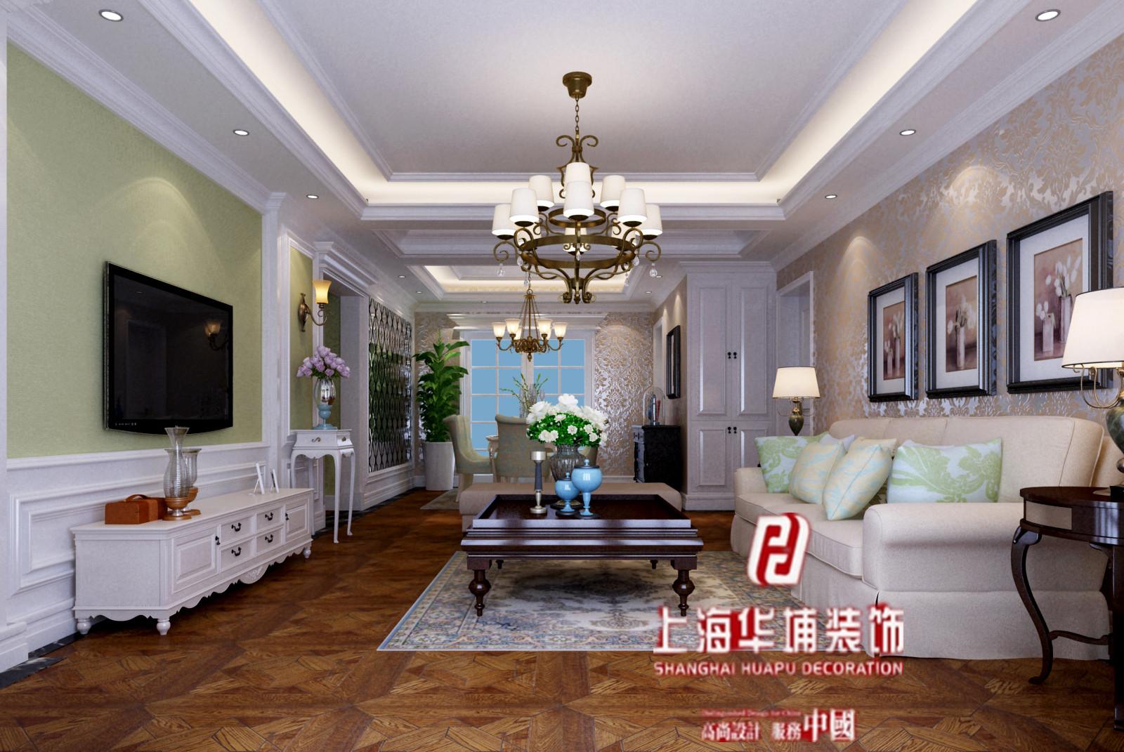 混搭 客厅图片来自上海华埔装饰郑州西区运营中心在西雅图89平装修效果图的分享