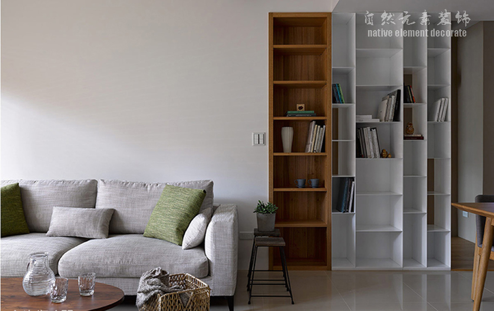 简约 小资 80后 白领 复式 现代 客厅图片来自自然元素装饰在星航华府——现代简约的复式房的分享