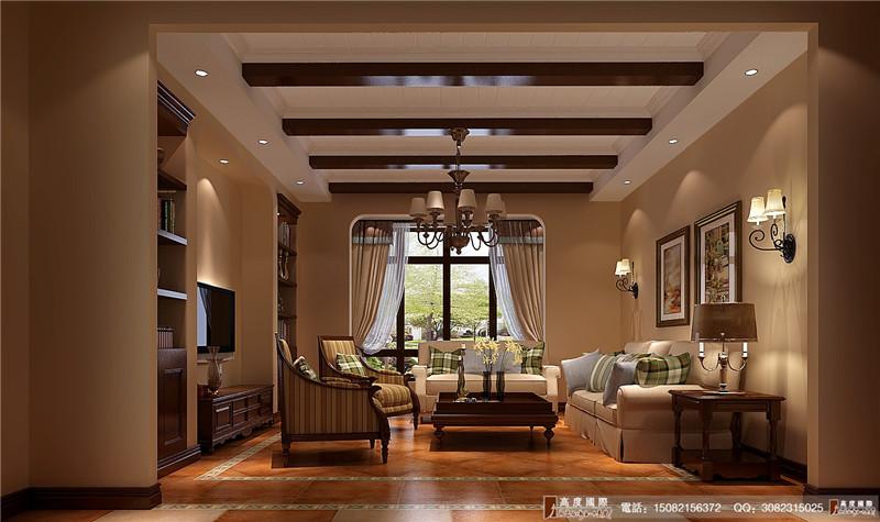 高度国际 成都装修 别墅装修 客厅图片来自成都高端别墅装修瑞瑞在美式风格----成都高度国际装饰的分享