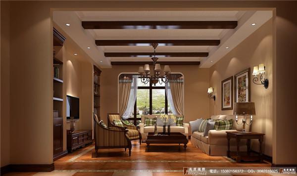 麓山国际客厅细节效果图---成都高度国际装饰设计