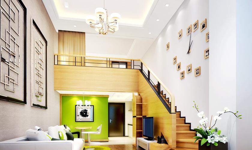 装修公司 威廉装饰 装修效果图 楼梯图片来自青岛威廉装饰在太阳岛LOFT宜家风的分享