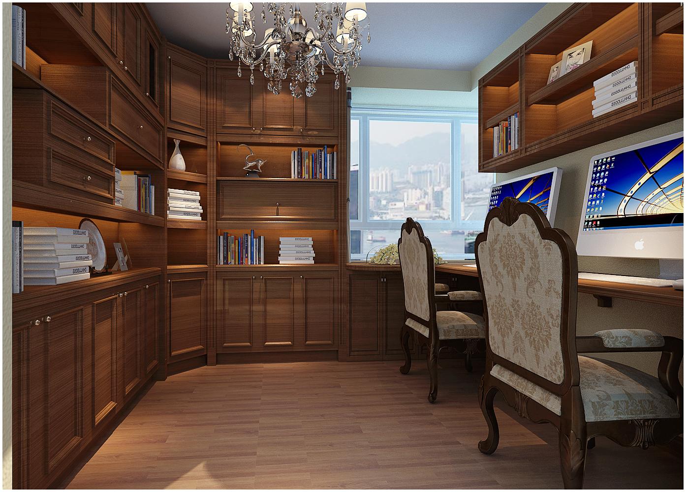 三居 美式 收纳 小资 书房图片来自快乐彩在尚乐城美式装修风格设计的分享