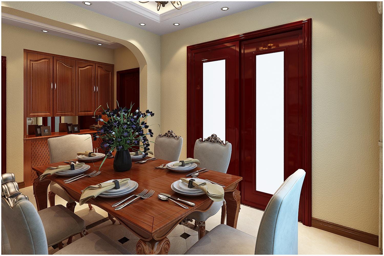 三居 美式 收纳 小资 餐厅图片来自快乐彩在尚乐城美式装修风格设计的分享