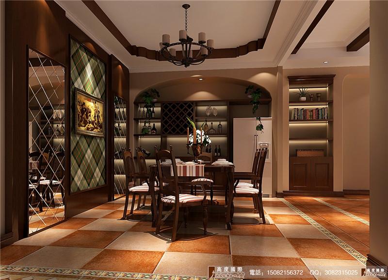 高度国际 成都装修 别墅装修 餐厅图片来自成都高端别墅装修瑞瑞在美式风格----成都高度国际装饰的分享