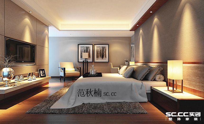 简约 三居 卧室图片来自郑州实创装饰-杨淑平在仁恒上元167平简约风情设计的分享