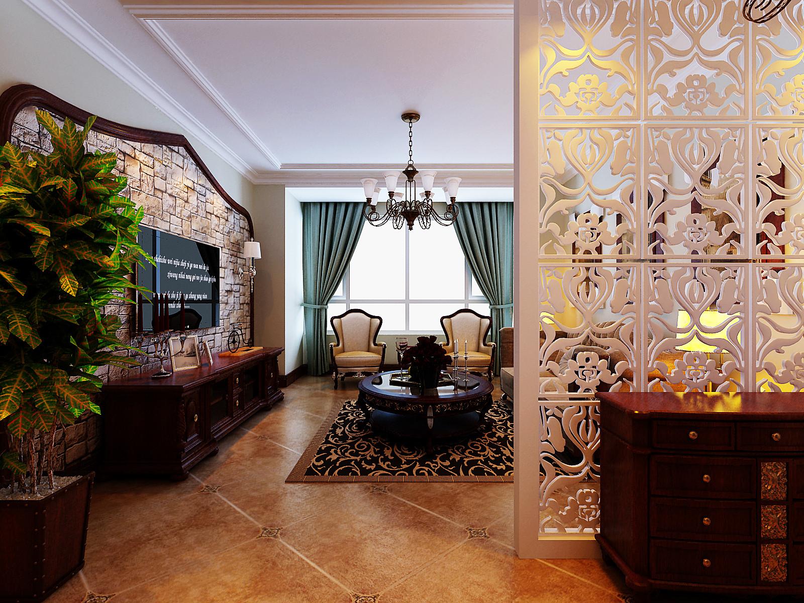欧式 二居 80后 亚洲城 百家装饰 客厅图片来自百家设计小刘在亚洲城92平欧式风格半包3.5万的分享