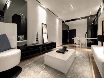 现代简约三居室装修设计