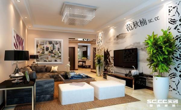 本案讲究材料自身的形式美,造型简洁的餐桌椅,黑白对比鲜明,简练的线条,优雅而柔美,咖啡色调营造出温馨的氛围,墙面那抹绿色的点缀让室内外空间更好的融合,对称的构图更突显了构成工艺的线条美。