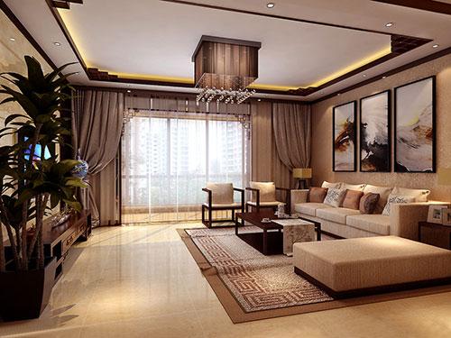 三居 中式 别墅 白领 收纳 旧房改造 80后 小资 客厅图片来自幸福亿家装饰在领秀翡翠山中式装修案例的分享