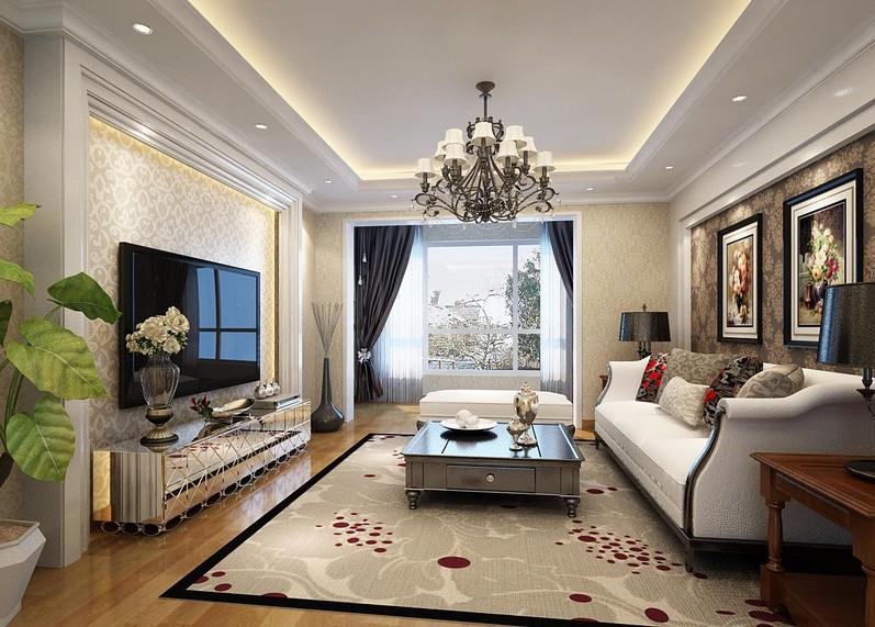 宏大南园 三居 简约 客厅图片来自赵修杰在118平现代简约案例的分享