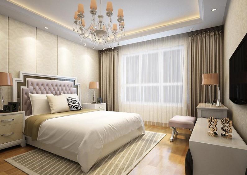 宏大南园 三居 简约 卧室图片来自赵修杰在118平现代简约案例的分享