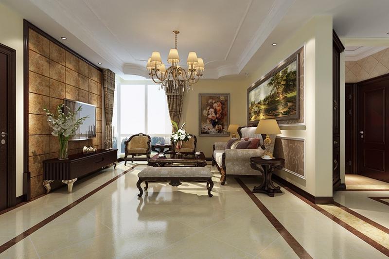 美式 三居 80后 客厅图片来自快乐彩在【花样年华】120平美式装修风格的分享