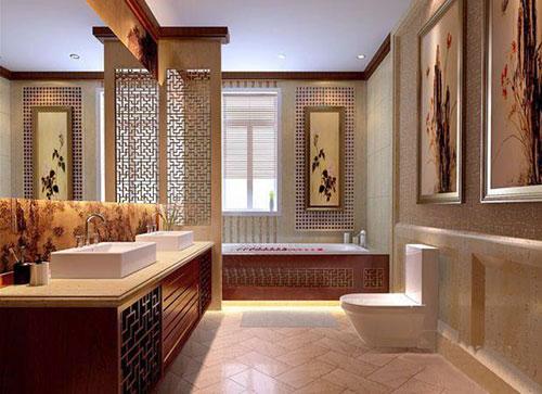 三居 中式 别墅 白领 收纳 旧房改造 80后 小资 卫生间图片来自幸福亿家装饰在领秀翡翠山中式装修案例的分享