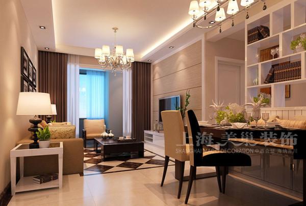正商明钻三室两厅118平现代简约案例——客餐厅装修效果图