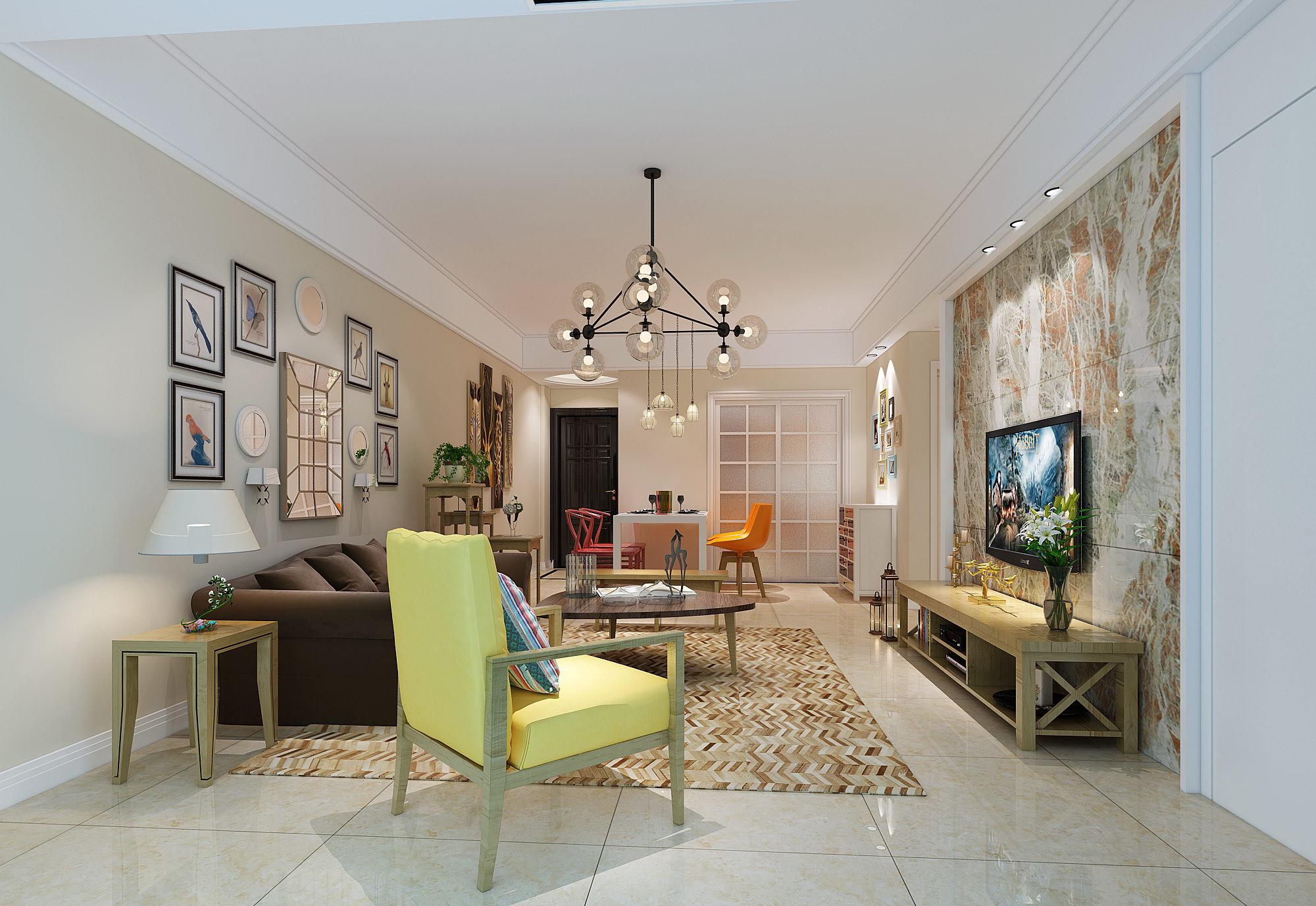 客厅图片来自北京二手房装修在引领北欧生活的分享