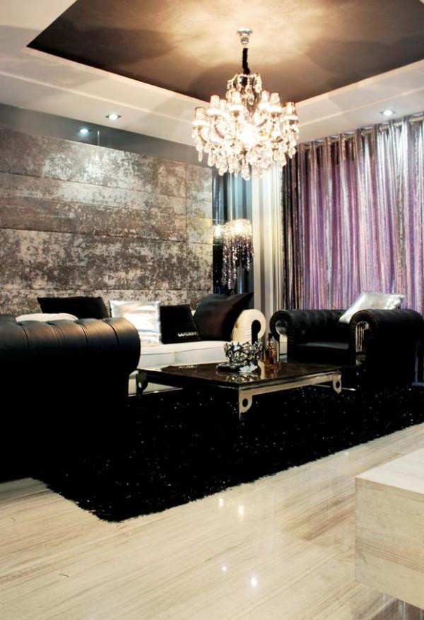 客厅的设计,灰色的设计看起来时尚、大气。