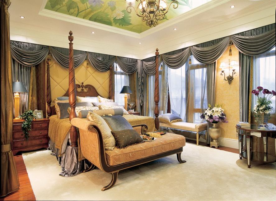 美式风格 田园 别墅 白领 小资 卧室图片来自孟庆莹在美式风格之优雅的润泽御府装修的分享