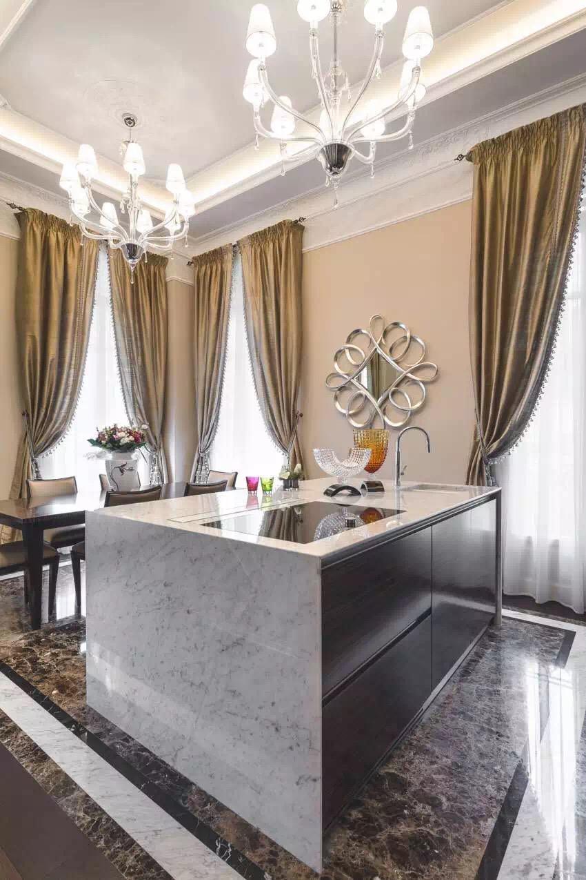 新古典风格 三居 老房翻新 婚房装修 厨房图片来自实创装饰上海公司在新古典风格高贵典雅大气之家的分享