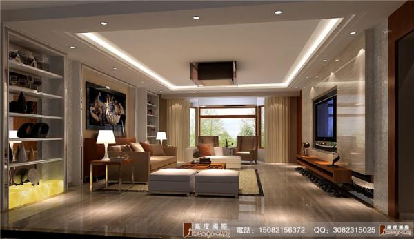 麓山国际客厅细节效果图---成都高度国际装饰