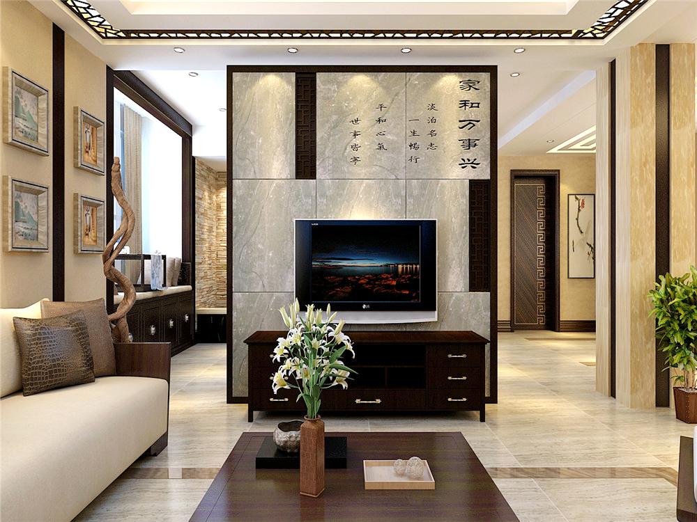 中式风格 别墅 客厅图片来自沈阳林凤装饰装修公司在理石雕刻出古典中式的分享