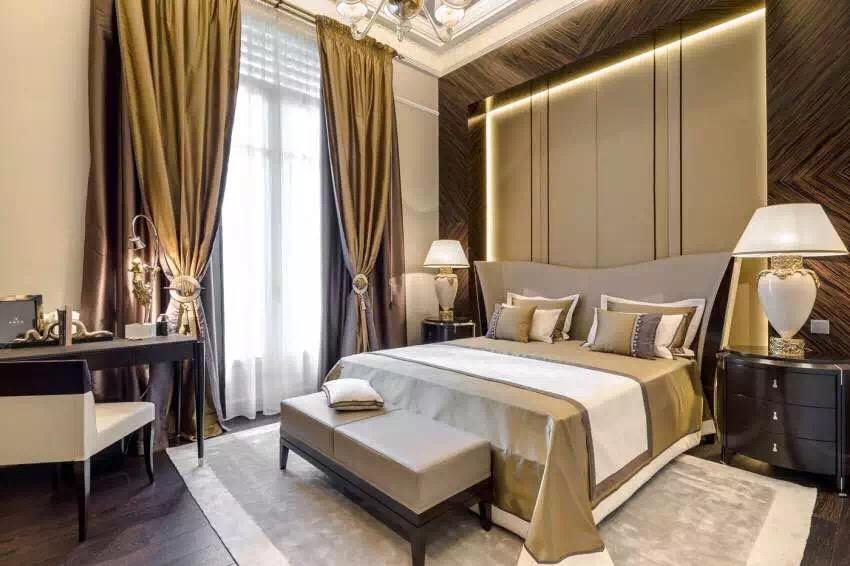新古典风格 三居 老房翻新 婚房装修 卧室图片来自实创装饰上海公司在新古典风格高贵典雅大气之家的分享