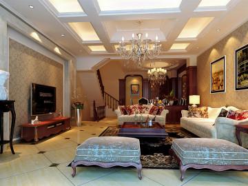 中景水岸300平别墅美式风格设计