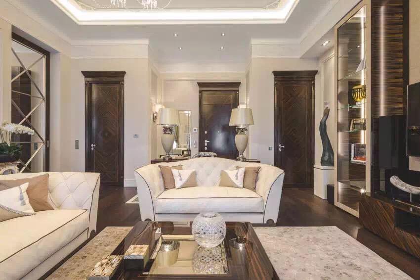 新古典风格 三居 老房翻新 婚房装修 客厅图片来自实创装饰上海公司在新古典风格高贵典雅大气之家的分享