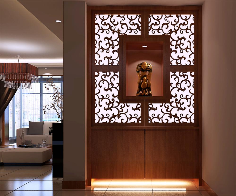 白领 收纳 80后 小资 旧房改造 三居 玄关图片来自实创装饰完美家装在天通苑175平新中式风格案例赏析的分享