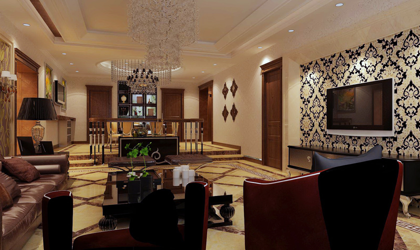别墅装修 别墅设计师 青岛装修 装修公司 威廉装饰 客厅图片来自安莉_Designer在悦海豪庭的分享