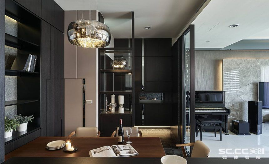三居 中式 客厅 餐厅图片来自实创装饰晶晶在黄浦逸城135平三居新中式设计的分享