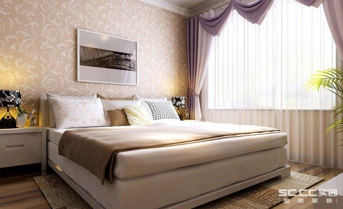 卧室图片来自郑州实创装饰啊静在升龙城58平现代简约一居的分享
