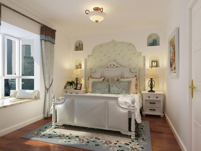 蓝海港湾 三居 地中海 家装 卧室图片来自郑州实创装饰啊静在正商蓝海港湾125平地中海三居的分享