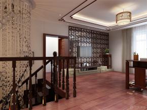 中式 四居 白领 收纳 80后 小资 楼梯图片来自阳光力天装饰在力天装饰-万科柏翠园340㎡的分享