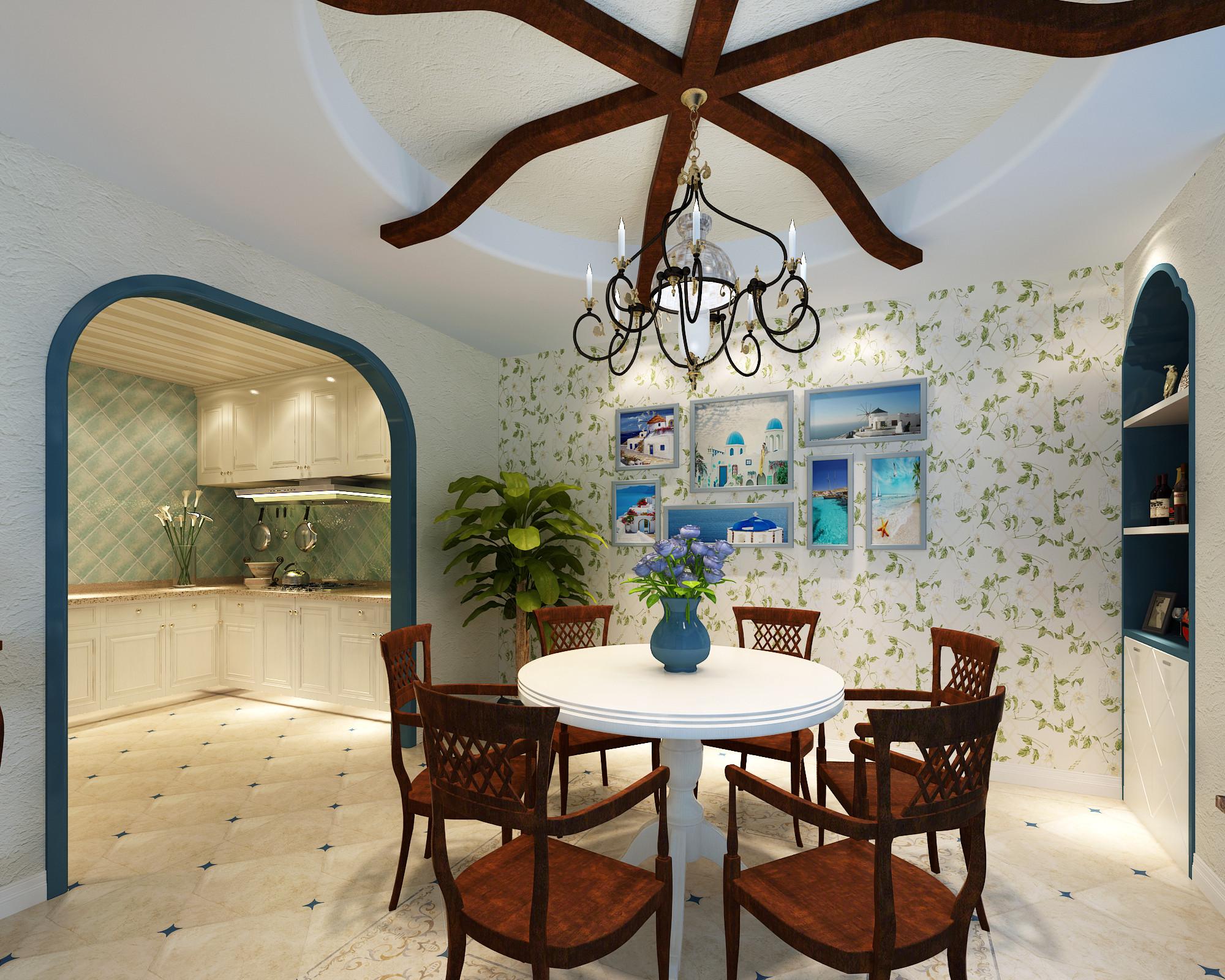田园 餐厅图片来自成都业之峰装修小管家在中海九号公馆的分享