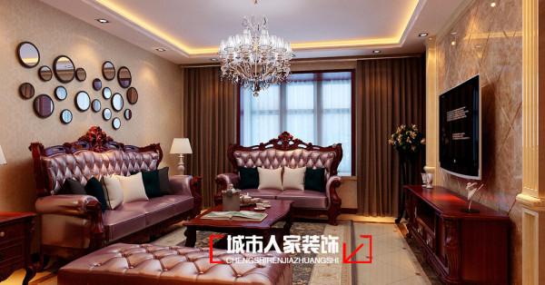 湖滨文锦170平米美式风格装修设计