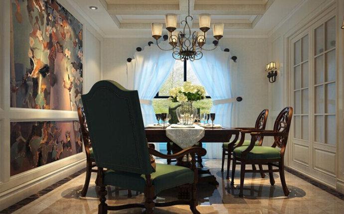 警察学院 三居 美式 家装 餐厅图片来自郑州实创装饰啊静在警察学院家属院165平美式三居的分享
