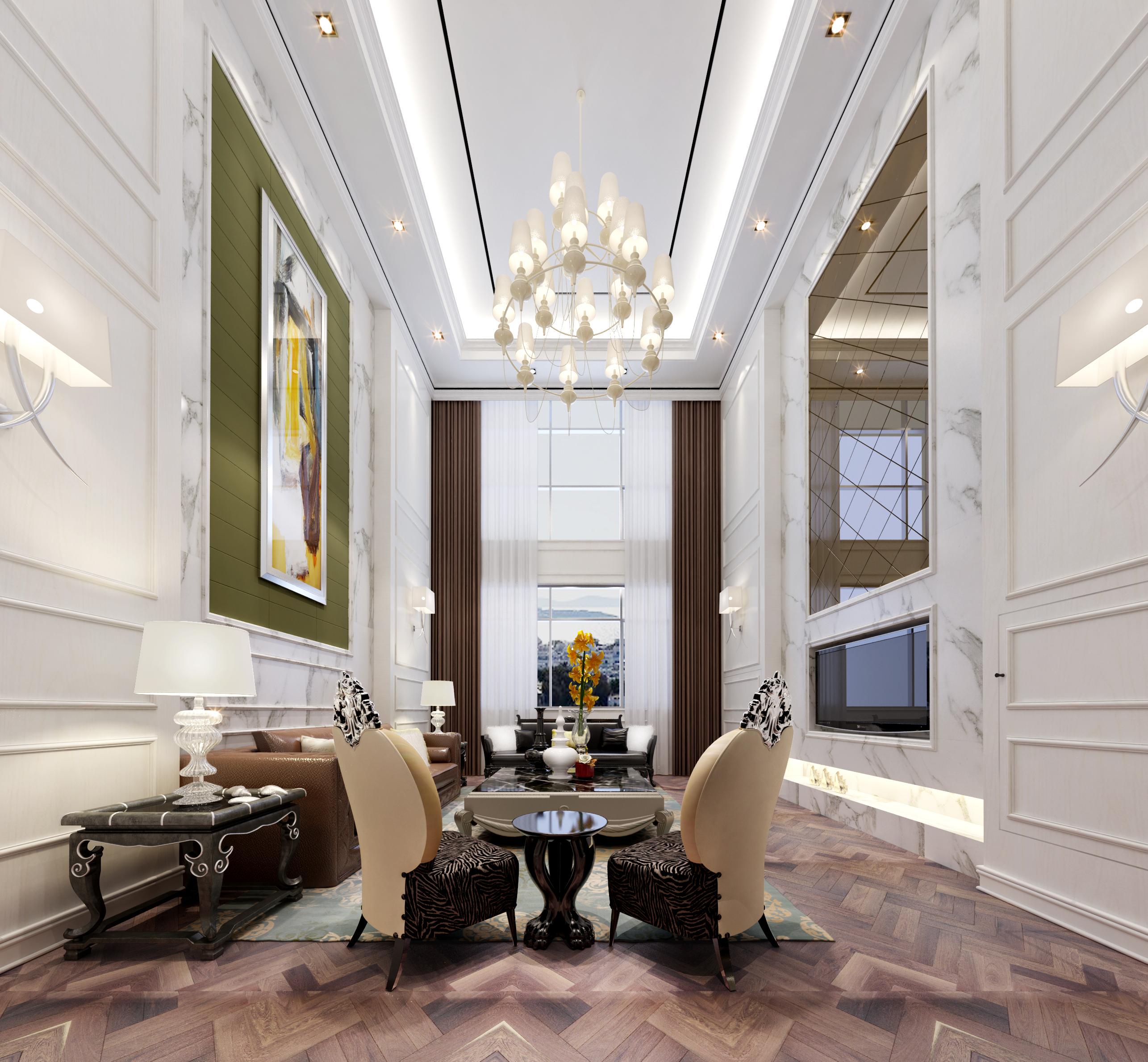 美式 奢华 豪宅 客厅图片来自EEE在高调美式的分享