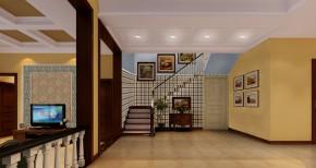 首创国际 美式风格 休闲 舒适 元洲小左 楼梯图片来自元洲装饰小左在首创国际半岛240平米美式风格的分享