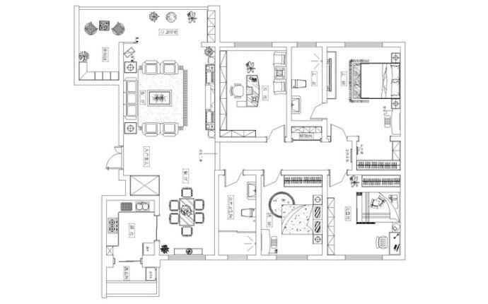警察学院 三居 美式 家装 户型图图片来自郑州实创装饰啊静在警察学院家属院165平美式三居的分享
