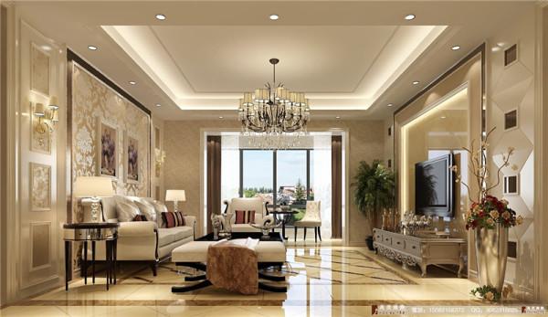 九号公馆装修客厅细节效果图--高度国际装饰