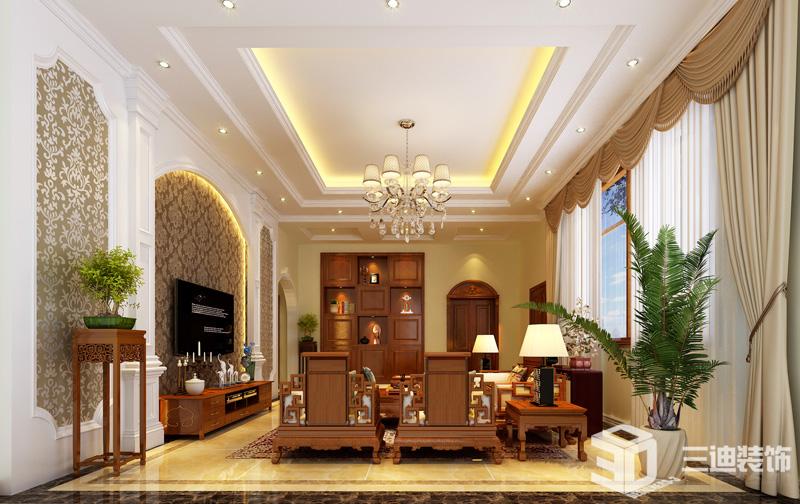 新中式 混搭 装修效果 客厅图片来自三迪装饰在欧式宫廷厚重风格的分享